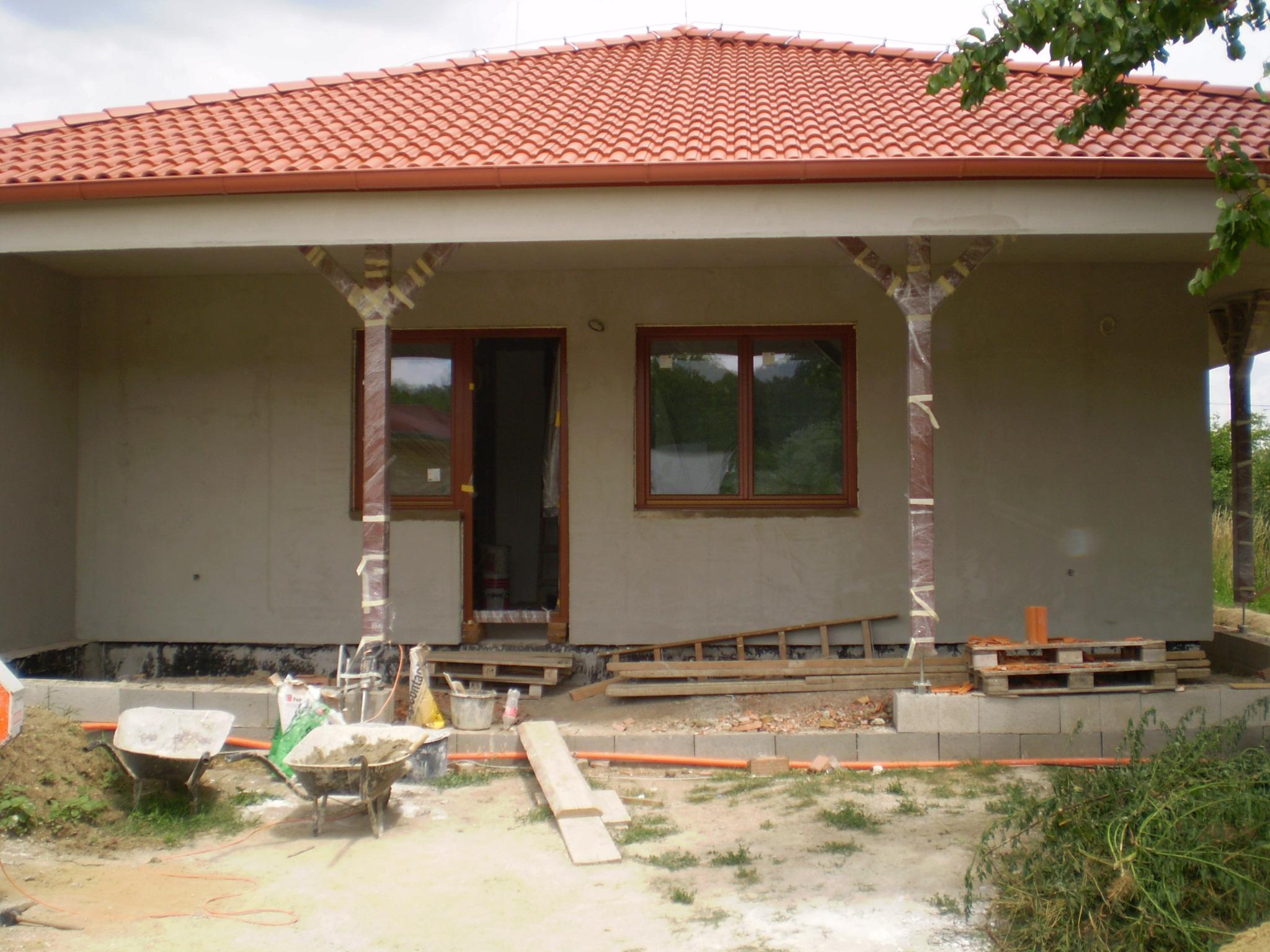 ťahanie omietky,rodinný dom Nové Zámky