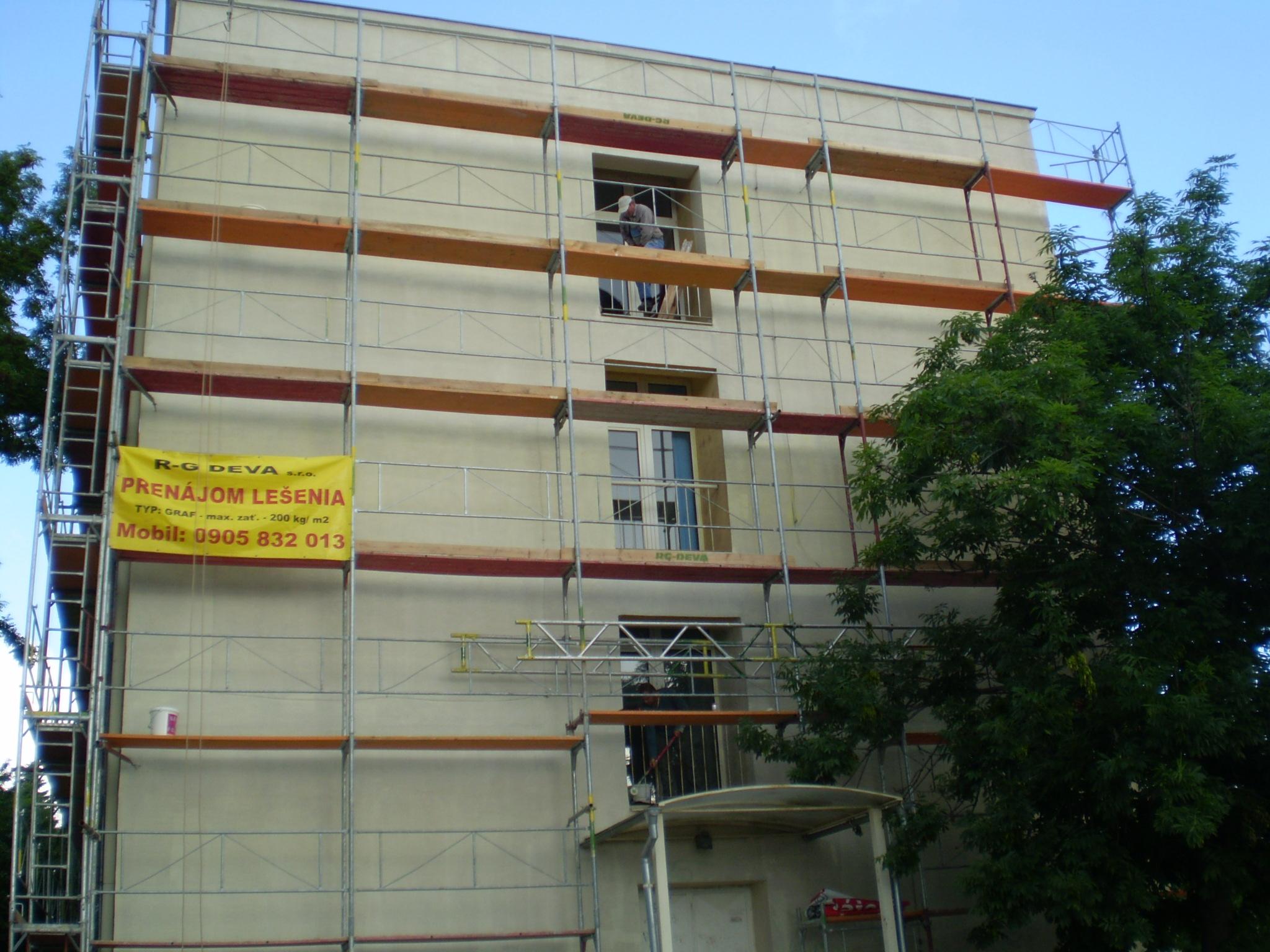 maľovanie fasád bytovky Bratislava